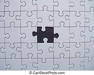 Missing piece - Jigsaw with black element