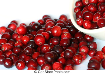 Bowl of cranberries