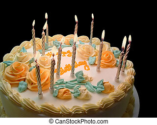 Birthday Cake - Birthday cake with candles