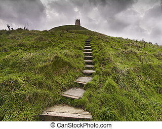 Glastonbury Tor in Somerset England