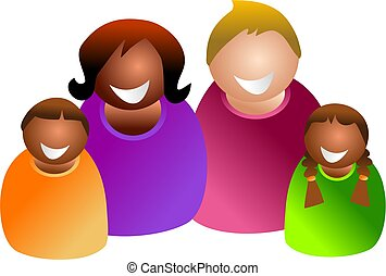 colourful family