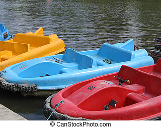Pedalo Boats - Pedelo Boats on the River Dee in Chester