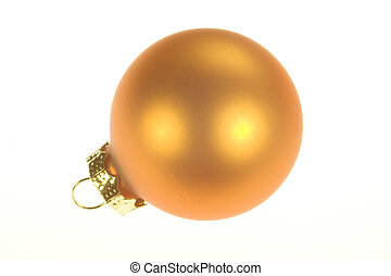 Christmas Ornament 1 - Photo of an orange Christmas ornament...