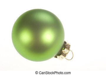 Christmas Ornament 3 - Photo of an green Christmas ornament...