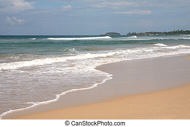 Bentota beach, Sri Lanka - Bentota Beach on the tsunami-hit...