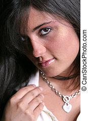Close Brunette one - Brunette closeup one