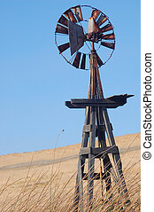 Old windmill - an old style windmill in the country