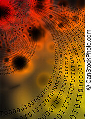Technology surround - Digits and data transfer conceptual...