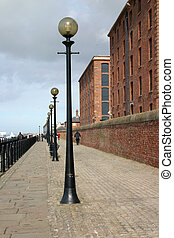 Liverpool Promenade - Walkway Alongside the Mersey River in...
