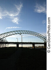 Runcorn Widnes Bridge - Bridge Over the Mersey at Runcorn