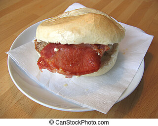 Bacon Butty - Bacon Sandwich