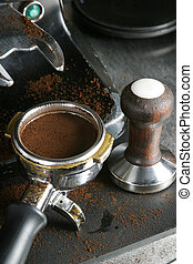 Tamped Espresso Bayonet - Bayonet filled with espresso,...