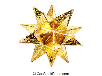 Gold Star - Gold Decorative Christmas Star