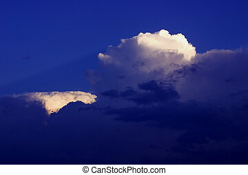 cumulonimbus - clouds signalizing a comming thunderstorm