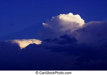 cumulonimbus - clouds signalizing a comming thunderstorm