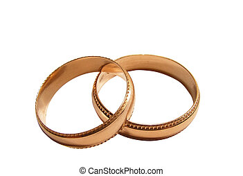 Ring 5 - two wedding rings with notches