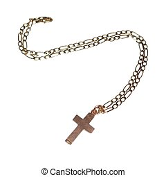 Cross and chain - gold cross and chain