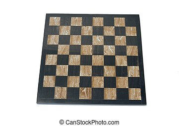 Chessboard over white