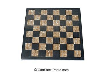 Chessboard over white