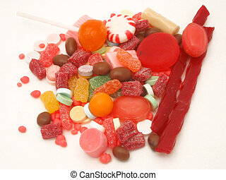 candy pile - assortment of candy