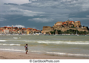 CORSICA CALVI Beach of Calvi - The Calvi bay is one of the...