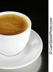 Americano - Double Americano in a white coffee cup