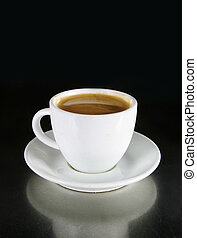 Americano - Double Americano in a white coffee cup