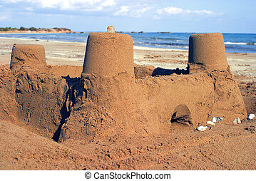 sandcastle - Sandcastle at the beach.