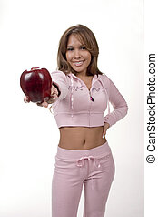 Tempting - Woman offering an apple