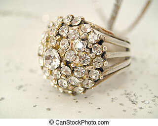 ring - diamond ring closeup