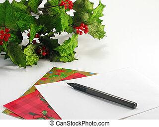 Christmas Cards - Writing Christmas cards