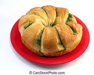 Garlic Bread - Round loaf of garlic bread