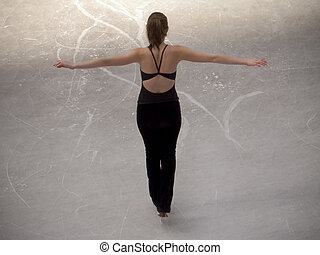 Ice Skater - This is a shot of an ice skater posing from the...