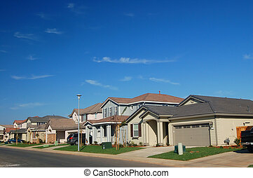 Suburbs - new middle class suburban neighborhood