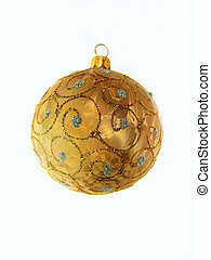 Christmas ornament - Isolated christmas ornament (golden...