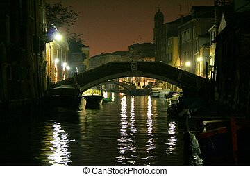 Venice by night - Romantic canal