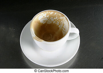 Empty Cup with Saucer - Empty cup of coffee, or cappuccino
