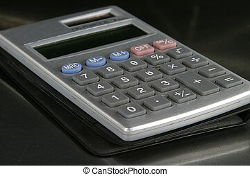 Calculator Detail - Small personal calculator detail with...