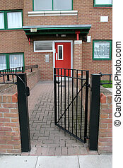 Open Gate - Iron Gate Red Door