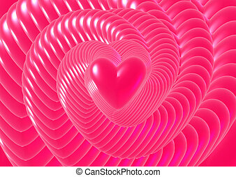 Love forever - Digital illustration of heart 3D Digital
