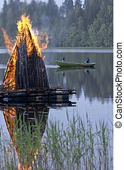 midsummer fire - Midsummer fire in Finland