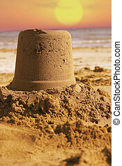 Sand Castle - on the beach.