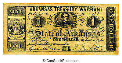 Confederate Money - Photo of Confederate Treasury Note -...