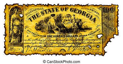 Burnt Confederate Money