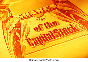 Capital Stock - Vintage Stock Certificate