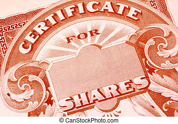 Stock Certificate - Vintage Stock Certificate