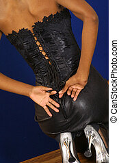 black boostie - laced up the back of a beautiful black...