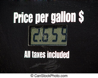 Price Per Gallon - LCD screen from a gas station