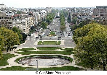Parc Cinquantenaire - Parc du Cinquantenaire, Brussels,...