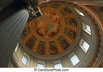 Hotel des Invalides dome interior, Paris, France